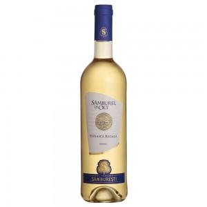 Vin alb demisec 0.75L Samburel de Olt Feteasca Regala