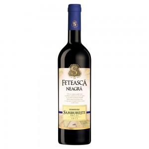 Vin rosu sec 0.75L Domeniile Samburesti Feteasca Neagra