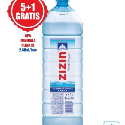 Apa minerala plata 2L Zizin Pachet Promo 5+1 gratis