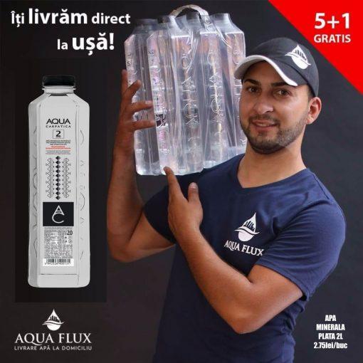apa minerala plata Aqua Carpatica plata 2 L promo 5+1